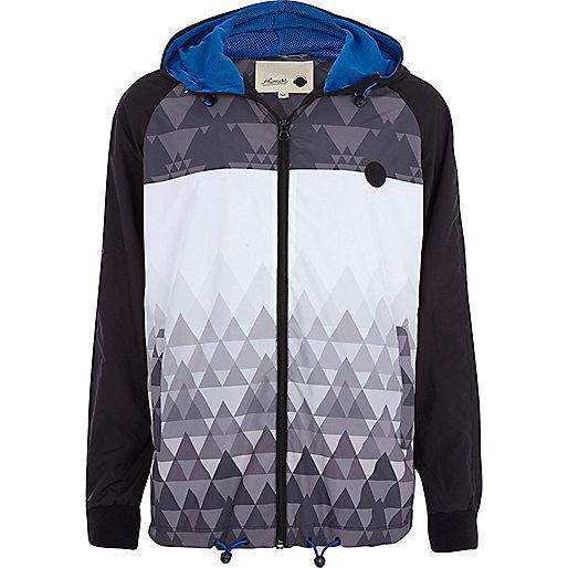 Black Humor geometric print casual jacket