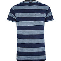 Navy Jack & Jones Vintage stripe t-shirt