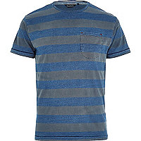 Blue Jack & Jones Vintage stripe t-shirt