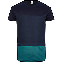 Navy Jack & Jones Premium block t-shirt