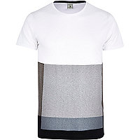 White Jack & Jones Premium block t-shirt