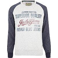 Ecru Jack & Jones Vintage print sweatshirt
