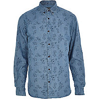 Light denim Jack & Jones Premium floral shirt