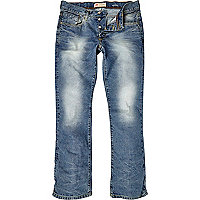 Light wash Clint distressed bootcut jeans