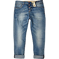 Light wash Chester ankle grazer tapered jeans