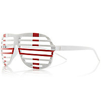 White England flag printed shutter sunglasses