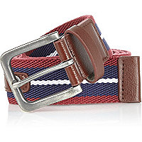 Navy and red webbing belt