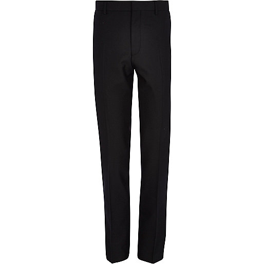 Black piped skinny smart trousers