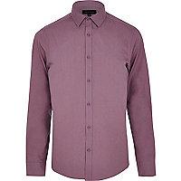 Light purple long sleeve poplin shirt