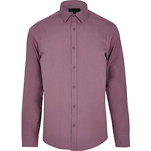 Light purple long sleeve poplin shirt
