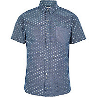 Blue Bellfield polka dot shirt