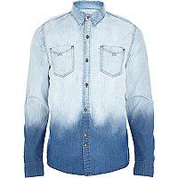 Blue Bellfield ombre denim shirt
