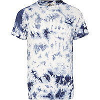Blue Bellfield tie dye on a high t-shirt
