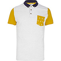 White Bellfield colour block polo shirt