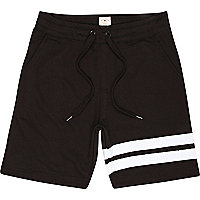 Black Bellfield placement stripe shorts
