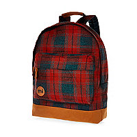 Red MiPac plaid backpack