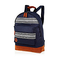 Navy MiPac nordic stripe backpack