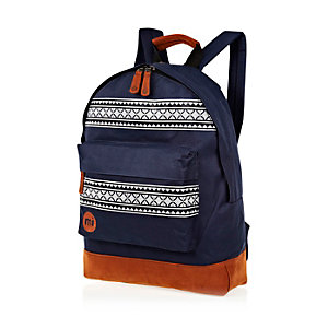 Navy MiPac Nordic print backpack