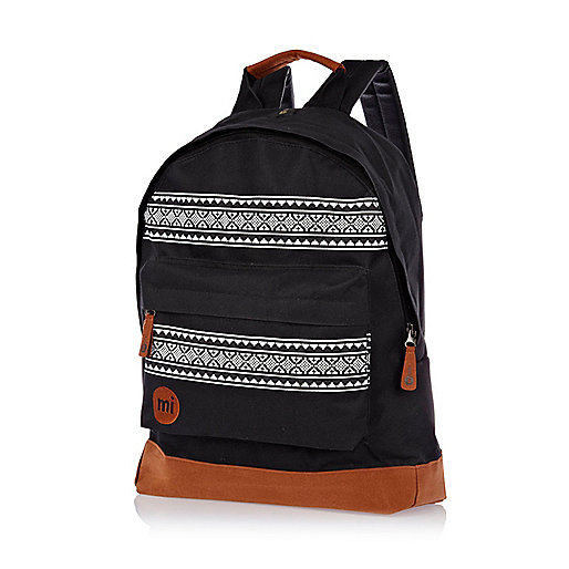 Black MiPac nordic stripe backpack