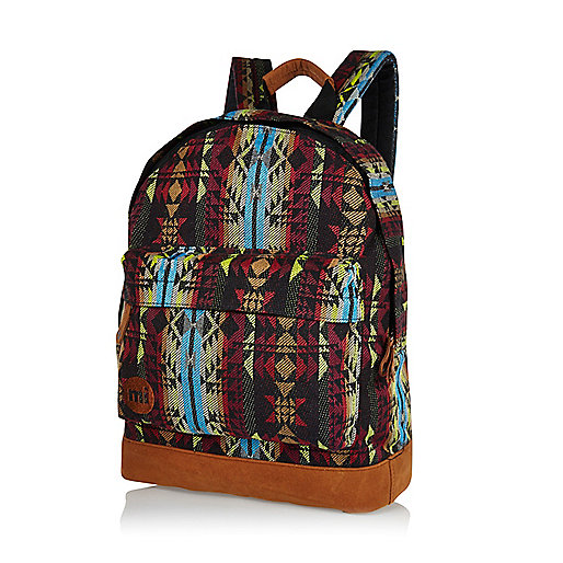 Black MiPac aztec woven backpack