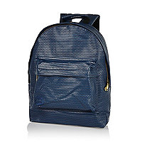 Navy MiPac perforated backpack