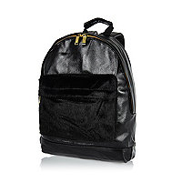 Black MiPac pony skin pocket backpack