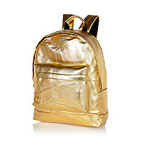 Gold metallic MiPac backpack