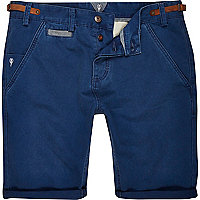 Navy Holloway Road chino shorts
