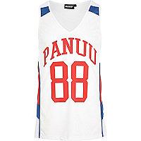 White Panuu 88 print vest