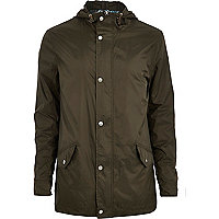 Khaki green lightweight parka jacket