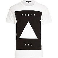 White Bronx NYC square print t-shirt