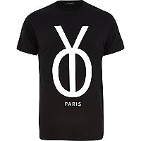 Black Yo Paris print t-shirt