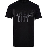 Black New York City print t-shirt