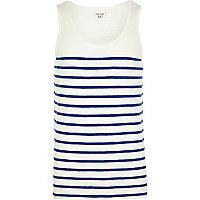 Blue breton stripe vest