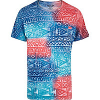Blue Mowgli hand painted tribal t-shirt