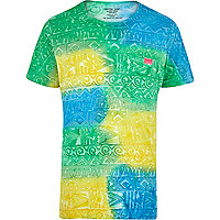 Green Mowgli hand painted tribal t-shirt