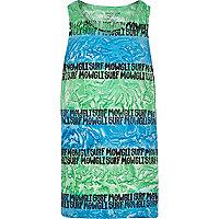 Blue Mowgli Surf hand printed vest