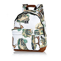 White Hype animal print backpack