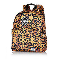 Orange Hype animal print backpack