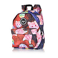 Red Hype space cats print backpack