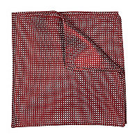 Dark red polka dot pocket square