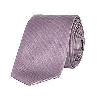 Lilac twill tie