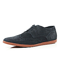 Navy Base rubber sole brogues