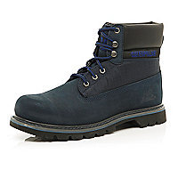 Dark blue Cat worker boots