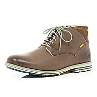 Brown Cat chukka boots