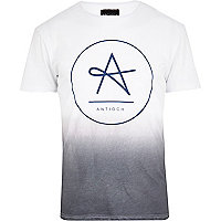 White Antioch dip dye t-shirt