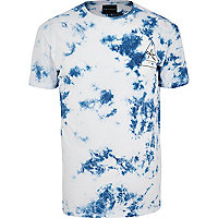 Blue Antioch acid wash t-shirt