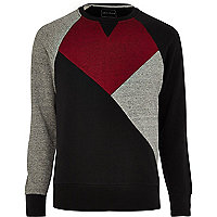 Black Antioch colour block sweatshirt