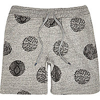 Grey Antioch snake polka dot jogger shorts