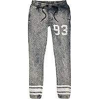 Navy Antioch stone wash joggers